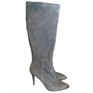 White house black market whipstitch suede boots